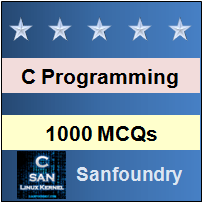 1000 C MCQs for Freshers & Experienced - Sanfoundry