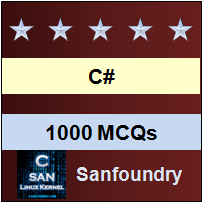 1000 C# MCQs for Freshers & Experienced | Sanfoundry