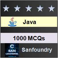 1000 Java MCQs for Freshers & Experienced | Sanfoundry