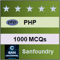 1000 PHP MCQs for Freshers & Experienced | Sanfoundry
