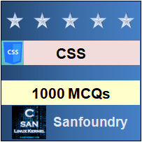 CSS Questions and Answers - Sanfoundry