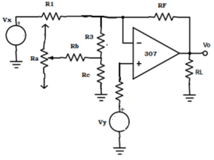 Find the external offset voltage from the given circuit