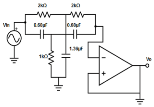 Find the 120Hzactive notch filter from the given diagram