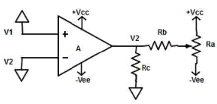 Find the non-inverting amplifier where the compensating network need to be connect to input terminal