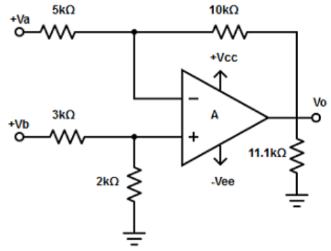 Find the differential amplifier from the given diagram