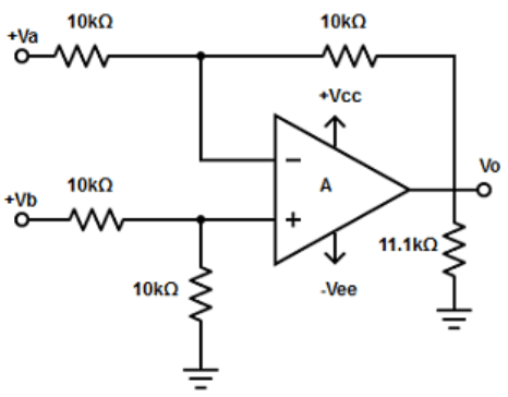 Find the eight input summing amplifier from the given diagram