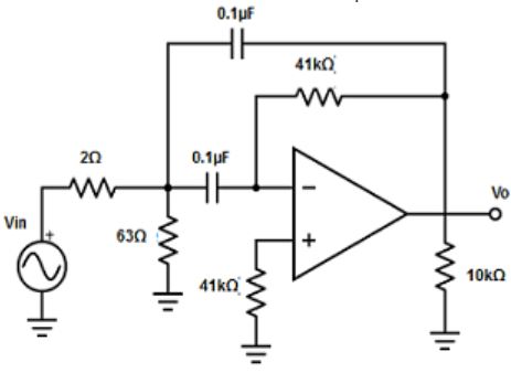 Find the factor of narrow band-pass filter from the given diagram