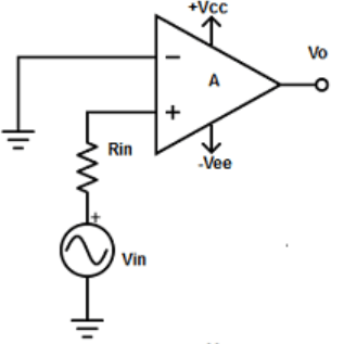 Find non-inverting amplifier configuration from the given diagram
