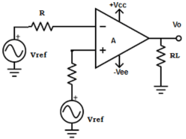 Find positive inverting input terminal from the given diagram