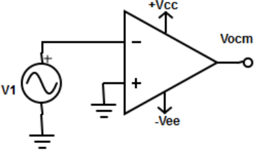 Find the Op-amp circuit where both inputs have same applied voltage