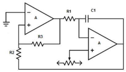 Find the sawtooth wave generator from the given diagram