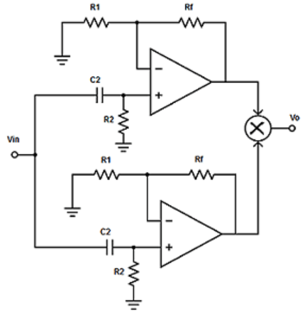 Find the wide band-reject filter from the given diagram