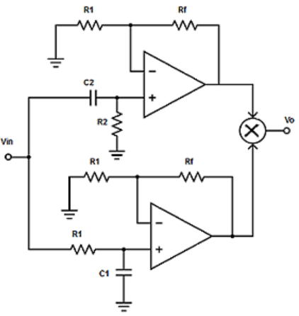 Find the summing amplifier from the given diagram