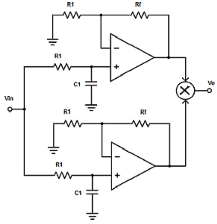 Find the type of filter from the given diagram