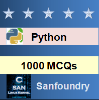 1000 Python MCQs for Freshers & Experienced | Sanfoundry