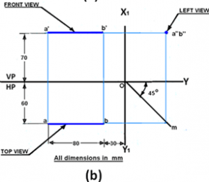 civil-engineering-drawing-questions-answers-projection-straight-lines-q6-b