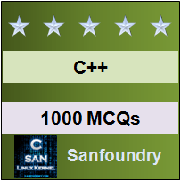 1000 C++ MCQs for Freshers & Experienced - Sanfoundry