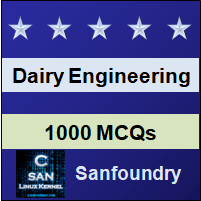 Dairy Engineering Questions and Answers