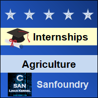 Bangalore Internships - Agricultural Engineering