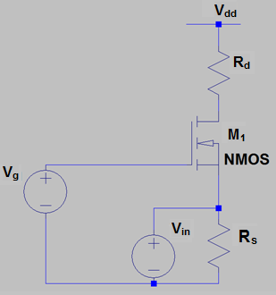analog-circuits-questions-answers-mosfet-amplifier-cg-configuration-1-q1