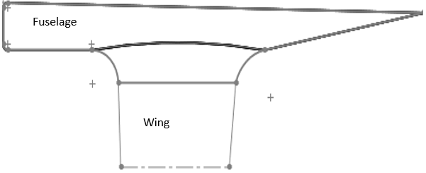Wing fillets used to improve smoothness of the root of the airfoil