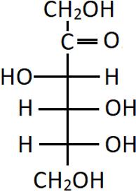D-(-)-fructose molecule structure