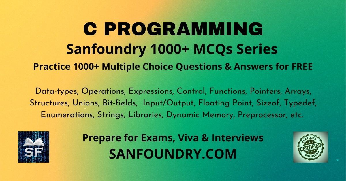 C Programming Multiple Choice Questions and Answers MCQs