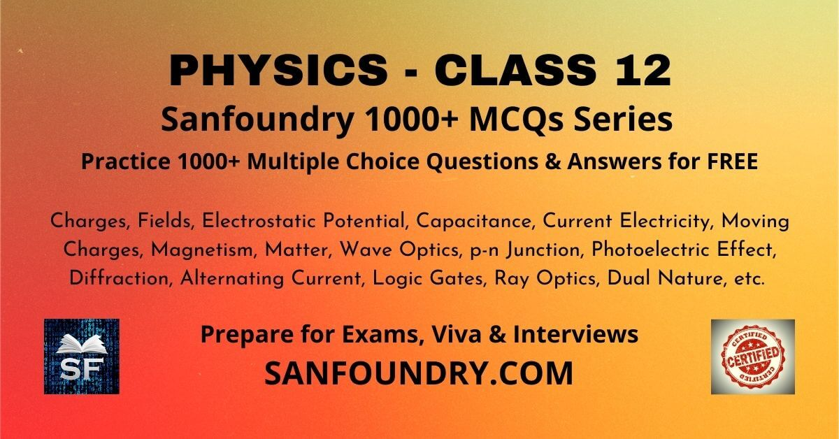 Physics Class 12 Multiple Choice Questions and Answers MCQs