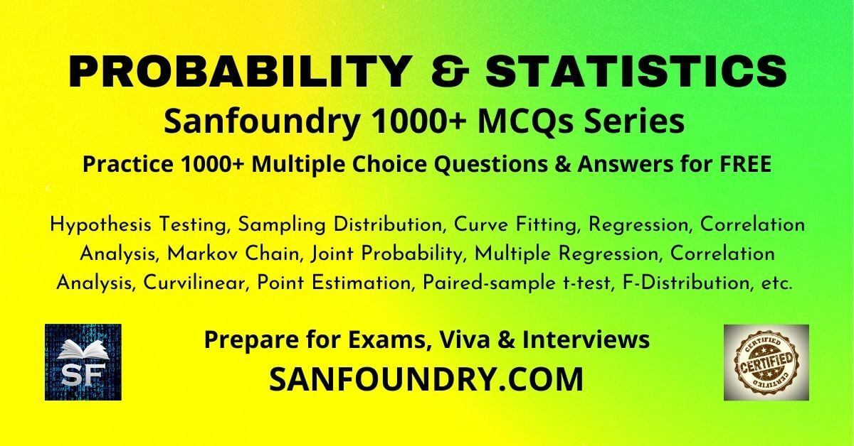 Probability and Statistics Multiple Choice Questions and Answers MCQs