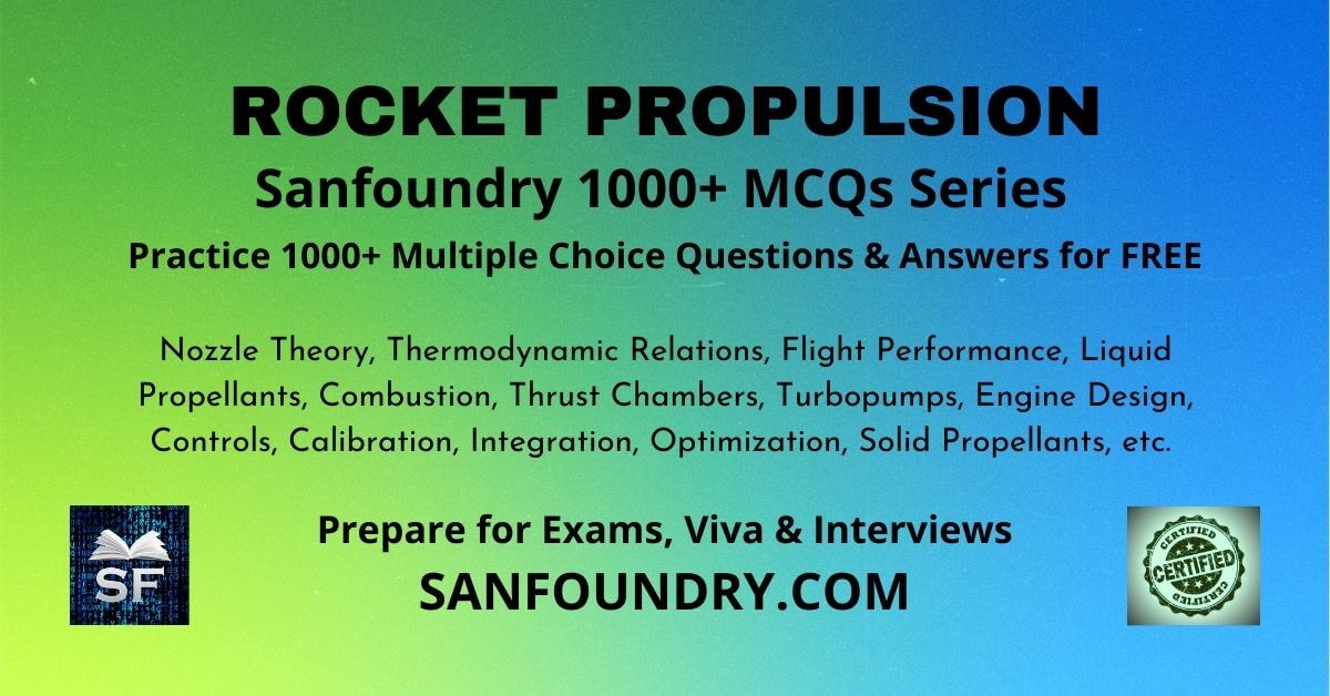 Rocket Propulsion Multiple Choice Questions and Answers MCQs