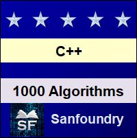 C++ Algorithms, Problems & Programming Examples