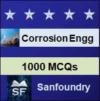 Corrosion Engineering MCQ - Multiple Choice Questions and Answers