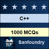 C++ MCQ - Multiple Choice Questions and Answers