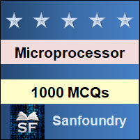 Microprocessor MCQ - Multiple Choice Questions and Answers