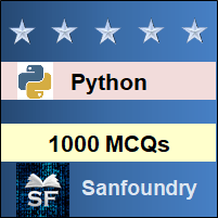Python MCQ - Multiple Choice Questions and Answers
