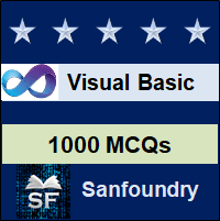 Visual Basic MCQ - Multiple Choice Questions and Answers
